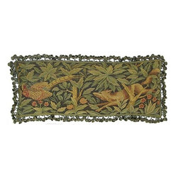"EuroLux Home - New Aubusson Throw Pillow 14""x36"" Pheasant - Product Details"
