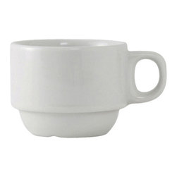 Tuxton - Alaska 3 oz Stackable Demitasse Cup Porcelain White - Case of 36 - DuraTux offers the widest selection of ceramic ovenware and accessory items in the industry. Our products are designed to handle the demands of any fastpaced environment  without breaking your budget. As with our dinnerware products all our ovenware items are fully microwavesafe, ovenproof, and dishwasherfriendly. With a variety of shapes sizes and colors our Cappuccino and Espresso collection can supply the ideal complement to your table.
