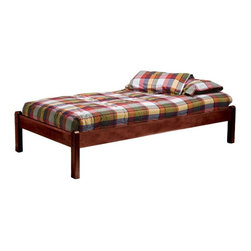 Bolton Furniture - Mission Twin Platform Bed - VER284 - Shop for Beds from Hayneedle.com! The Mission Twin Platform Bed offers a simple platform bed design that is stylish and comfortable. Made with an all wood construction this bed needs no box spring and features a beautiful finish in your choice of available options.About BoltonBolton Furniture is proud to offer consumers quality wood pieces at affordable prices since the early 1900s. Located in Vermont Bolton selects its lumber locally. Each piece is carefully crafted from the beginning stages of kiln drying to the packaging of the finished product. Having specialized in the detailed wood-craftsmanship of musical instruments Bolton Furniture perfected woodworking in the 1970s. This means that their furniture pieces are created with extreme attention to detail and superior precision. Bolton Furniture's reputation is built on its products - durable lasting and beautiful.