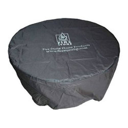 Outdoor Great Room - Round Vinyl Cover for Glass 42, Stonefire 42, Nightfire 42 and Chat 42 - Constructed from sturdy black vinyl material for long life and durability