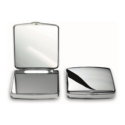WS Bath Collections - Smile Lighted Pocket Mirror 7x Magnification - Pocket Travel Mirror