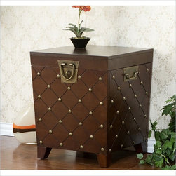 Holly & Martin - Holly & Martin Caldwell Trunk End Table in Espresso - Holly and Martin - End Tables - 01053024312
