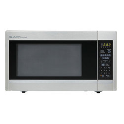 None - Sharp R551ZS Stainless Steel Countertop Microwave Oven - Cook some of your favorite foods quickly with this modern and stylish microwave oven. The stainless steel finish gives this microwave a sleek and contemporary feel,which is sure to add some flair to your kitchen or cooking area.