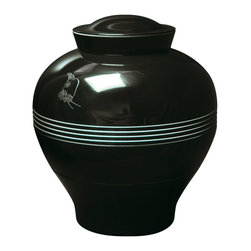 iBride - iBride Yuan Set of Stackable Bowls - Yuan is a set of eight stackable bowls and plates that stack to form the shape of a vase. Made of melamine, each stackable piece has a different print on the inside. Available in a gray or black exterior. Dishwasher safe. Manufactured by iBride.Designed in 2009 - 2011.