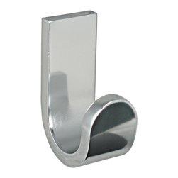 KohINoor - Materia Bathroom Hook in Shiny Aluminum - Features: