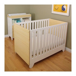 Spot on Square - Hiya Convertible Crib - Designed by modern parents Bob and Nicole Springer (left) who believe in providing modern parents with new options in furniture for their modern tots, the Hiya Series was named after their son... a nickname given to him by his twin sister as soon as she could utter her first words. The Hiya series conveys a childlike sense of purity, simplicity and sustainability. Designed by: Bob and Nicole Springer Features: -Available with optional Conversion Kit that converts crib into Toddler Bed. -Available in White, Birch / White or Bamboo / White. -Made from recycled MDF and sustainable wood. -Eco-friendly non-toxic paint . -Three position adjustable mattress height . -Some assembly required . -Mattress not included. This is a NON-Drop Side crib