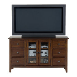 Jofran - Jofran 043-9 Brentwood Oak TV Cabinet - The simplicity and elegance, style and practicality - these are the main theses of Occasional tables by Jofran Inc. Among the great variety of collections you can choose the one that best suits your apartment, and that is to your liking. This Brentwood oak media unit belongs to 043 Series - Brentwood oak collection by Jofran Inc. The classic formulas of color combinations are not valid in Jofran Furniture territory: here is ruled by laws solely of your own preferences and fantasies. Huge selection of colors in combination with a wide choice of shapes and sizes allow you to find among this variety precisely the furniture you've always wanted to see in your home. Jofran Furniture offers high quality, casual furniture pieces that are constructed from premium Asian hardwoods, and finished with beautiful veneers. Durable materials and quality assembly will help your furniture to serve for many years and will not let you be disappointed in your choice.