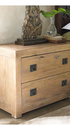 """Horchow - Marrakesh Nightstand - Naturally casual and highly durable nightstand is constructed of solid ironwood. Two drawers. Jewelry tray in the top drawer. 38""""W x 18""""D x 28""""T. Imported. Boxed weight, approximately 123 lbs. Please note that this item may require additional de..."""