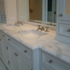 Traditional Vanity Tops And Side Splashes by BECKER WORKS LTD