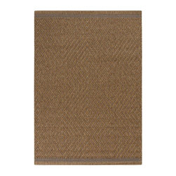 Home Decorators Collection - Masson Area Rug - Our Masson Area Rug features a textured diamond pattern with a woven border along two edges. Part of our Patio Collection, this synthetic outdoor rug has the look and feel of natural fibers with the durability to withstand sun and storms. 100% Olefin. Machine made. Flat pile. Can be used indoors or out. Easy to clean; simply spray with a hose. Made in Turkey.