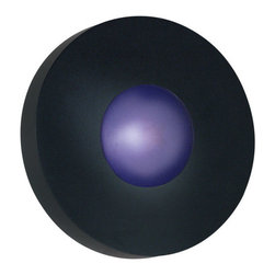 "Kenroy Home - Kenroy Home 72824 Outdoor Energy Star Wall Sconce from the Burst Collection - *Burst Large Round Wall Mount - Indoor / OutdoorCan also be Ceiling MountedEach Light comes with both Cobalt Blue and White Opal GlassExtends: 5""1 75w JDE11 Halogen Bulb (Included) Energy Star Certified"