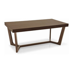 Calligaris - Prince 8 Person Wood Fixed Table - Suitable for living areas or dining rooms. Entirely made of wood with clean modern lines. Solid top rests on an unusual crossed base. Assembly required. 78.75 in. W x 39.375 in. D x 29.625 in. H