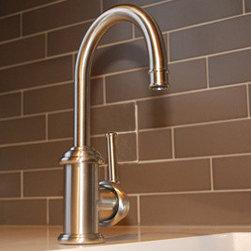 Aquabrass - Aquabrass - 9840B Royal Vittoria Bar Prep Sink Faucet - ABFK9840BBSS - Brushed Stainless Finish