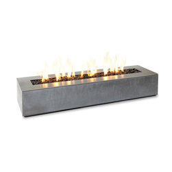 Paloform Robata Rectangular Concrete Outdoor Fire Place - Stardust loves modern outdoor fireplaces and the Paloform fireplaces are out favorites! This modern outdoor planter blends concrete with a stainless steel top. This beautiful rectangular outdoor fireplace is a Stardust Staff Pick! The Paloform Robata outdoor fireplace is characterized by its understated elegance, clean lines and remarkable attention to detail that can only be accomplished with handcast concrete.