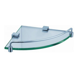 Fresca - Fresca FAC0448 Ottimo Corner Glass Shelf - Fresca FAC0448 Ottimo Corner Glass Shelf