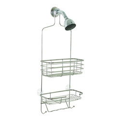 """Zenith - Zenith 7704S 26.25"""" Metal Over the Shower Head Caddy in Chrome - Zenith 7704S 26.25"""" Metal Over the Shower Head Caddy in ChromeOrganize your shower instantly with this easy to install rust-resistant showerhead caddy. Provides storage for bottles, soap, shower puffs, washcloths & more. Slip-proof collar and suction cups are included to secure caddy.Zenith 7704S 26.25"""" Metal Over the Shower Head Caddy in Chrome, Features:&#149 Fits over showerhead"""