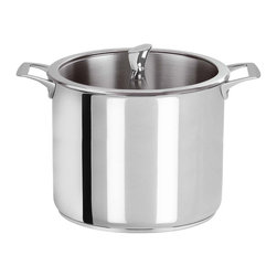 Cristel - Cristel Casteline Stainless Steel 7.6-quart Stock Pot - Stock up! If soups and stews are your specialty, upgrade to this superior stock pot. It's made of  stainless steel with a matching glass lid, and its ample 7.6 quart capacity is the perfect size for your largest culinary feats (and feasts).