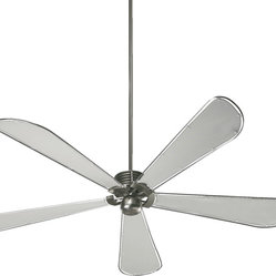"Quorum International 159725-65 Dragonfly Satin Nickel 72"" Ceiling Fan"