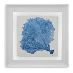 Bassett Mirror - Bassett Mirror Framed Under Glass Art, Sea Fan V - Sea Fan V