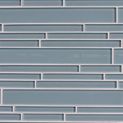 Jasper Blue Random Strip Glass Mosaic Tiles
