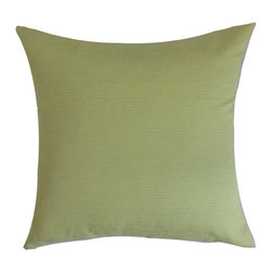 "The Pillow Collection - Ranau Solid Pillow Green 20"" x 20"" - With a color which resembles the grass, this decor pillow makes a beautiful statement in your home. This indoor pillow is made from 100% plush cotton fabric which ensures lasting quality and comfort. Fresh and clean, this accent pillow is practical and easy to coordinate. You can combine various patterns and colors with this 20"" pillow for a more interesting decor style. Place this square pillow on top of your bed, couch or seat. Hidden zipper closure for easy cover removal.  Knife edge finish on all four sides.  Reversible pillow with the same fabric on the back side.  Spot cleaning suggested."