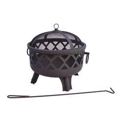 Landmann - Garden Lights Series Sarasota Black Firebowl - Inspired by great cities of the United States' deep south, these firebowls are backyard no-brainers for stylistic contribution and sheer functionality. Choose from the finish of your choice and enjoy a sturdy and handsome fire pit.