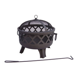 Landmann - Garden Lights Series Sarasota Black Fire bowl - Inspired by great cities of the United States' deep south, these firebowls are backyard no-brainers for stylistic contribution and sheer functionality. Choose from the finish of your choice and enjoy a sturdy and handsome fire pit.