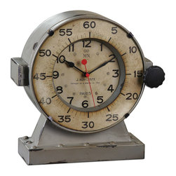 Uttermost - Uttermost Marine Table Clocks 06096 - Distressed, antiqued gray with an antiqued, aged ivory clock face. Quartz movement.