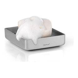 Blomus - NEXIO Rail Soap Dish - Keep both your hands and soap bar clean with NEXIO Rail Soap Dish. It features a stainless steel dish with a tray to allow the soap suds to flow through, keeping your soap bar free of annoying soapy residue. Innovative design in a sleek, modern piece without compromising functionality.