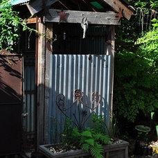 Eclectic Exterior Outdoor Shower