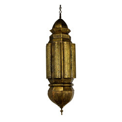 Badia Desgin Inc. - Tall Hand Punched Brass Chandelier - One of a Kind
