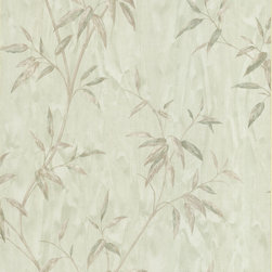 Beacon House - Bamboo Light Green Bamboo Textured Wallpaper - Commitment-free wallpaper? That's right. Use this contemporary bamboo pattern on an accent wall, or cover your entire living room. It's scrubbable and peelable, so if you're renting or just like switching things up on a regular basis, you can easily make a change. Made in the United Kingdom.