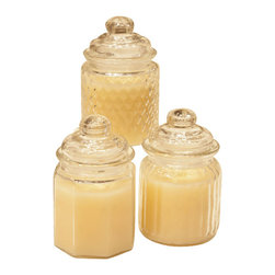 Antique Jar Flameless LED Candle-Night Lights - These darling antique looking jars make great night lights as they are flameless and have timers for 4 or 8 hours. Used together or separately these make a great gift for that someone special that needs a lighted way.