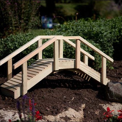 Fifthroom - Treated Pine Mini Arched Bridge - Want to add a little magic and charm to your outdoor garden? Looking to add a little whimsy to any outdoor space? Then consider this Treated Pine Mini Arched Bridge. It�s just the thing to dress up your outdoor retreat; garden or even children�s play area. Engineered of #1 Grade Pine, it is not only environmentally friendly, but also very resistant to decay, termites and rust damage.
