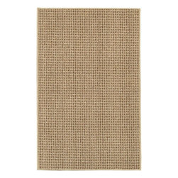 Mohawk Home - Mohawk Berber San Juan Tan Solid 2'6 x 3'10 Rug (6438) - The classic design of this rug will make an outstanding enhancement to a wide range of interior decorating styles.  This machine made rug features an woven pattern in shades of tan and red, making it a complement to accent any room in your home or office. The bold red color would be a great way to define a space and create visual interest within your d