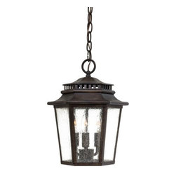 The Great Outdoors - The Great Outdoors GO 8274 3 Light Outdoor Pendant from the Wickford Bay Collect - Outdoor PendantFeatures Clear Seeded glassHinged door for access to lightsRequires 3 - 60W candelabra base bulbs