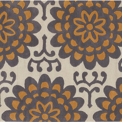 Wallflower Rug - Beige - Hand constructed with high quality New Zealand wool, our tufted pile wallflower rug has a style that works in any setting, and is ready to entertain! Soft to the touch and equally durable, this rug offers both comfort and function. Available in two color ways to suite your taste.