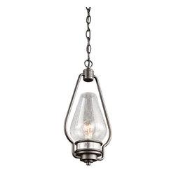 Kichler Lighting - Kichler Lighting 49093AVI Hanford Lodge/Country/Rustic Outdoor Hanging Pendant - Kichler Lighting 49093AVI Hanford Lodge/Country/Rustic Outdoor Hanging Pendant Light In Anvil Iron