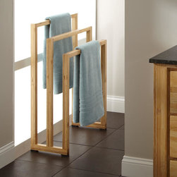 Hailey Bamboo Towel Rack - Keep towels and other items organized and dry with the Hailey Towel Rack, crafted of strong, eco-friendly bamboo.
