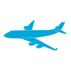 """My Wonderful Walls - Airliner Stencil for Painting - - Measures 17.5""""w x 8""""h"""