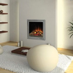Clean Face (II) - Contemporary design and recessed wall mounting gives this electric fireplace a subtle presence.