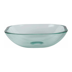 Renovators Supply - Vessel Sinks Clear Glass Square Mini Vessel Sink 12"""
