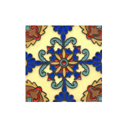 Handpainted Ceramic Tile Montecito Collection - Item Cm211