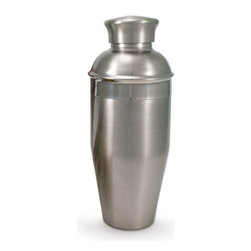 "Bambeco Cocktail Shaker - Shaken, not stirred Our Cocktail Shaker lets you shake up your favorite drinks with class and eco style. Made with recycled stainless steel in an environmentally-friendly production process, these shakers feature classic styling and cool good looks. Holds 26 ounces.   Dimensions: 8.5""H x 3.25"" dia.  Care: Hand wash, wipe outside with damp cloth"