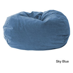 Gold Medal - Gold Medal Kid's Corduroy Suede Bean Bag - Expandable polystyrene beads make for great,lightweight comfort in this bean bag chair by Gold Medal. A child-safe zipper and soft microsuede construction make this a great addition to any child's room.