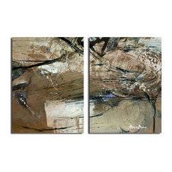 Ready2HangArt - Ready2HangArt Alexis Bueno 'Smash XVIII' Oversized Canvas 2-piece Wall Art Set - This abstract canvas art is the perfect addition to any contemporary space. It is fully finished, arriving ready to hang on the wall of your choice.