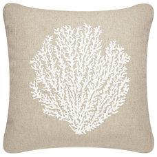 Beach Style Decorative Pillows by Wabisabi Green