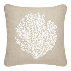Sea Fan Outdoor Eco Pillow, Shell White/Papyrus, With Insert