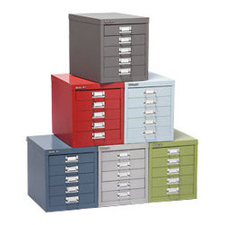 Bisley® 5-Drawer Cabinet - These little drawer cabinets are little pricey, but oh-so-cute and handy. And they come in a rainbow of colors. I've got my eye on the light blue one. They accommodate drawer inserts (sold separately) for organizing small items like pens, pencils, paper clips or small craft supplies.