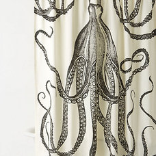 eclectic shower curtains by Anthropologie